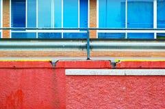 Farbwand Stockbild