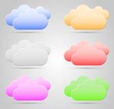 Farbwolken Stockbild
