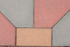 Farbwurm blockiert Muster Stockfoto