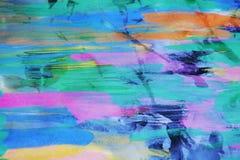 Farby akwarela na burnt papierze z woskiem, tło Obrazy Stock