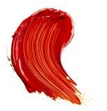 Farby czerwona taca zdjęcia royalty free