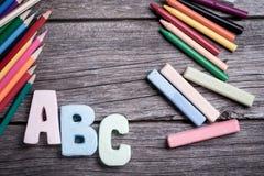 Farby i ołówki Zdjęcia Stock