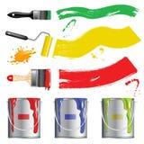 farby inkasowy narzędzie Obrazy Stock