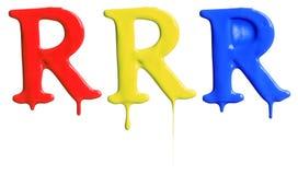 Farby kapiący abecadło Obrazy Royalty Free