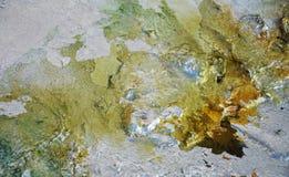 Farby kopaliny zieleni złoty tło, abstrakcjonistyczna kolorowa tekstura Zdjęcie Royalty Free