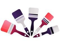 Farby muśnięcia ikona w modnym mieszkanie stylu odizolowywającym na tle z kolorami ilustracji