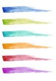 Farby muśnięcia uderzenia, wektoru set Obraz Royalty Free