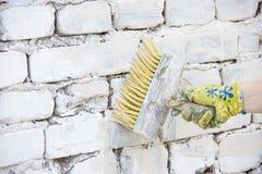 Farby muśnięcie dla malować ściany zdjęcia royalty free