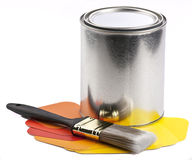 Farby muśnięcie i farba Obrazy Stock