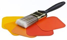 Farby muśnięcie i farba Obraz Stock