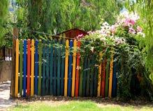 Farby ogrodowa brama Obrazy Royalty Free