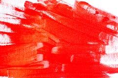 farby oleju czerwone tło Obraz Royalty Free