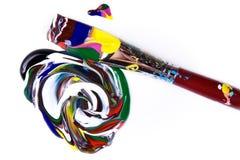 farby paintbrush Zdjęcie Stock
