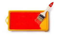 farby paintbrush czerwień fotografia stock