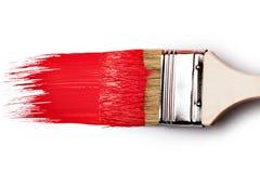 farby paintbrush czerwień zdjęcie royalty free