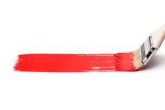 farby paintbrush czerwień zdjęcia stock