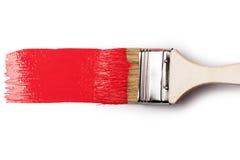 farby paintbrush czerwień zdjęcia royalty free