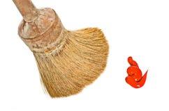 farby paintbrush czerwony biel Fotografia Stock