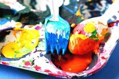 farby paleta fotografia stock