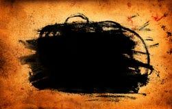 Farby plama na Grunge starej papierowej teksturze Obraz Royalty Free