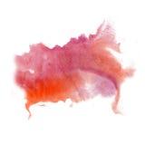Farby pluśnięcia koloru atramentu akwarela odizolowywa wapna uderzenia splatter watercolour czerwieni menchii aquarel muśnięcie Zdjęcia Stock