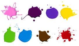 Farby pluśnięcie Obrazy Stock