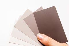 Farby próbki karty Obraz Stock