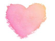 Farby serca symbol Obraz Stock