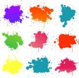 farby splat Zdjęcie Royalty Free
