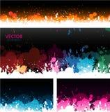 Farby splat sztandarów tło Obrazy Stock