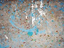 Farby splatter na betonie Obrazy Royalty Free
