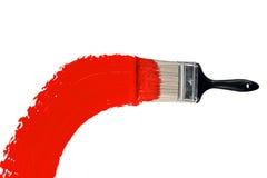 farby szczotkarska czerwień Fotografia Stock