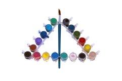farby szczotkarska różna średnia wiewiórka Obraz Stock