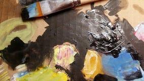 Farby sztuka muśnięcie Tło Obraz Royalty Free