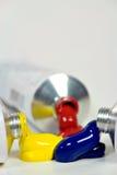 farby trzy probówki Fotografia Stock