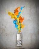 Farby tubka Obrazy Royalty Free