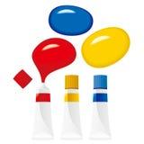 farby tubki wektor Fotografia Stock