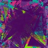 Farby uderzenia kopii przestrzeń abstrakcjonistyczny miastowy wzór royalty ilustracja