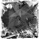 Farby uderzenia kopii przestrzeń na abstrakcjonistycznym miastowym wzorze Grunge tekstury tło ilustracja wektor