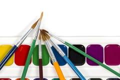 farby ustawiają akwarelę Zdjęcie Stock