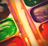 farby ustawiają akwarelę Zdjęcia Royalty Free