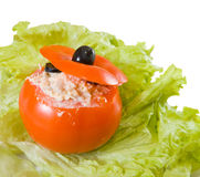 Farci tomato salad Royalty Free Stock Photos