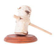 Farcical Judge Mallet and Soundboard Stock Photo