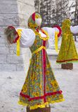 Farcito in vestiti russi tradizionali fotografie stock libere da diritti