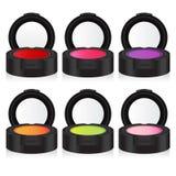 Fard à paupières coloré de maquillage de vecteur Photo stock