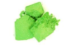 Fard à paupières vert écrasé Photo stock