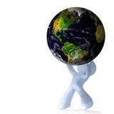 Fardeau de la terre de planète illustration de vecteur