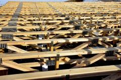 Fardos de madeira para a base da segunda história fotos de stock royalty free