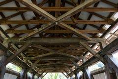 Fardos de ponte coberta da forquilha do crânio foto de stock royalty free