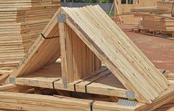 Fardos home residenciais da casa pré-fabricada da construção fotografia de stock